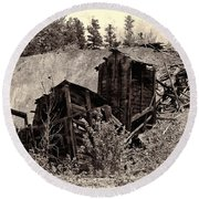 Abandon Montana Mine Round Beach Towel