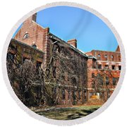 Abandoned Asylum Round Beach Towel by Bill Cannon