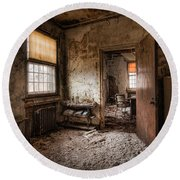Abandoned Asylum - Haunting Images - What Once Was Round Beach Towel