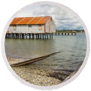 Abandoned Cannery Round Beach Towel