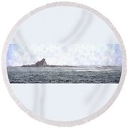 Abandoned Dreams Abwc Round Beach Towel