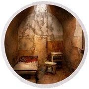 Abandoned - Eastern State Penitentiary - Life Sentence Round Beach Towel by Mike Savad