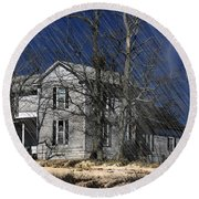 Abandoned Except For Ghosts Round Beach Towel