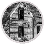 Abandoned Farmhouse - Alstown - Washington - May 2013 Round Beach Towel