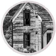 Abandoned Farmhouse - Alstown - Washington - May 2013 Round Beach Towel
