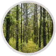 Abandoned Forest In Scott Arkansas Round Beach Towel