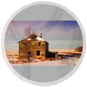 Abandoned House Round Beach Towel by Jeff Swan