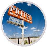 Abandoned Motel Round Beach Towel