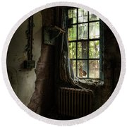 Abandoned - Old Room - Draped Round Beach Towel