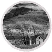 Abandoned Two-story Farmhouse - P Road Nw - Waterville - Washington - May 2013 Round Beach Towel