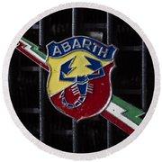 Abarth Emblem Round Beach Towel