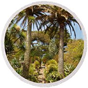 Abbey Gardens Of Tresco On The Isles Of Scilly Round Beach Towel