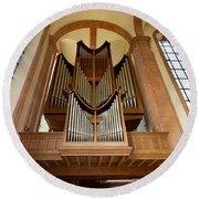 Abbey Organ Round Beach Towel