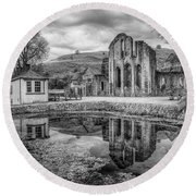 Abbey Reflections Round Beach Towel