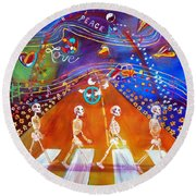 Abbey Road In 50 Years Round Beach Towel