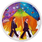 Abbey Road Round Beach Towel