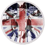 Abbey Road Union Jack Round Beach Towel