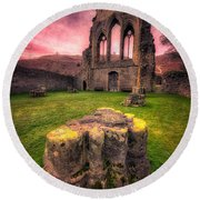 Abbey Ruin Round Beach Towel