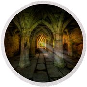 Abbey Sunlight Round Beach Towel by Adrian Evans