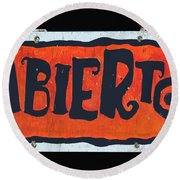 Abierto Round Beach Towel