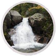 Abol Falls 4672 Round Beach Towel