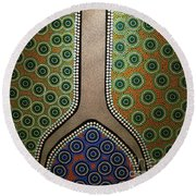 Aboriginal Inspirations 21 Round Beach Towel