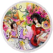 About Women And Girls 16 Round Beach Towel