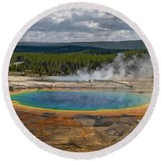 Above Grand Prismatic Round Beach Towel