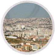 Above Lisbon Portugal Round Beach Towel