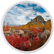 Above The Arctic Circle Round Beach Towel