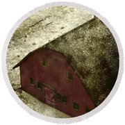 Above The Barn Round Beach Towel