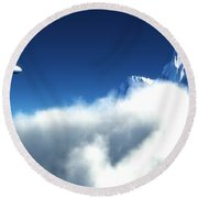 Above The Clouds... Round Beach Towel