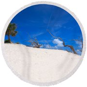 Above The Dunes Round Beach Towel