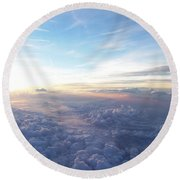 Above The Earth Round Beach Towel