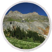 Above The Fruited Plains Round Beach Towel