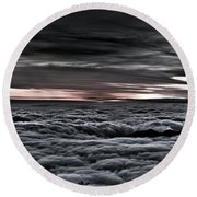 Above The Marine Layer V2 Round Beach Towel