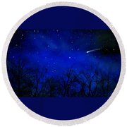 Above The Treetops Wall Mural Round Beach Towel