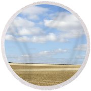 Above Us Only Sky 2 Round Beach Towel