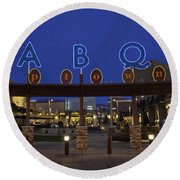 Abq Uptown Entrance Round Beach Towel