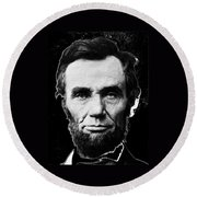 Abraham Lincoln 1 Alexander Gardner Photo Washington D.c. C. 1864 Round Beach Towel