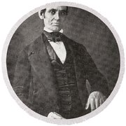 Abraham Lincoln, 1809 – 1865.  16th President Of The United States Of America.  From Abraham Round Beach Towel