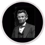 Abraham Lincoln 2  Alexander Gardner Photo Washington Dc  February  1865 Round Beach Towel