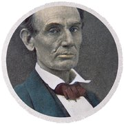 Abraham Lincoln Round Beach Towel by American Photographer