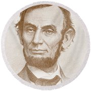 Abraham Lincoln Round Beach Towel by American School