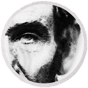 Abraham Lincoln - An American President Round Beach Towel by Sharon Cummings