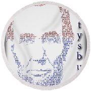 Abraham Lincoln  Round Beach Towel by Gary Keesler