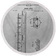 Abraham Lincoln Patent Drawing Round Beach Towel