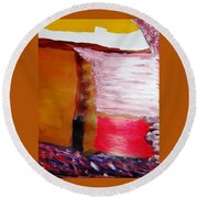 Absence Round Beach Towel