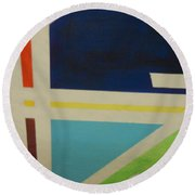 Abstracat Exhibit Round Beach Towel