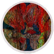 Abstract - Emotion - Annoyance Round Beach Towel
